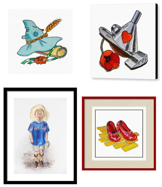 artist and illustrator watercolour artworks
