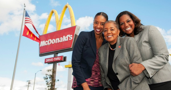 Black mom and two daughters who own McDonald's franchises