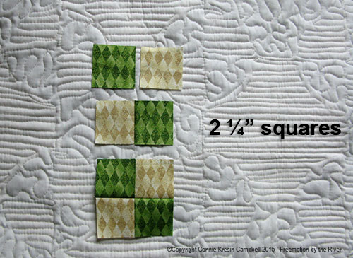 Tutorial for piecing a christmas table runner