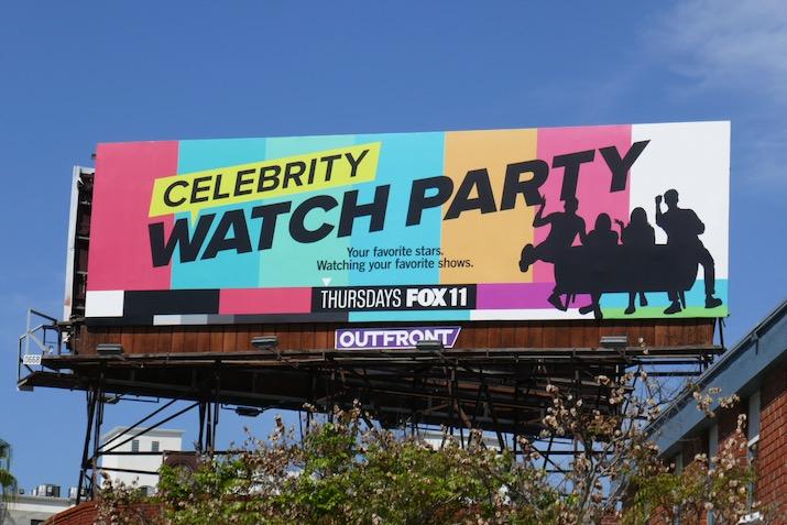 Celebrity Watch Party series premiere billboard