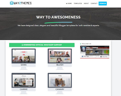 Free blogger themes for blogspot blogs