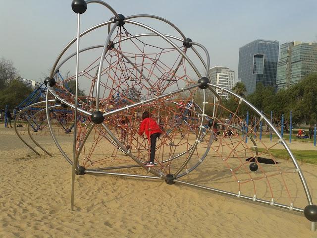 crianças parque Chile