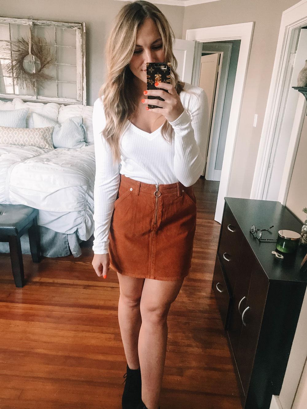 nordstrom anniversary sale orange skirt