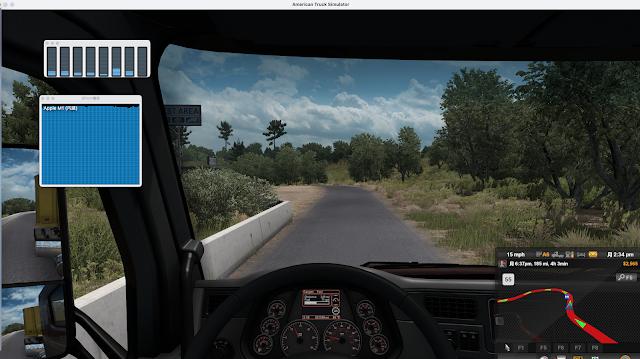 American Truck SimulatorGPU使用率画面スクショ