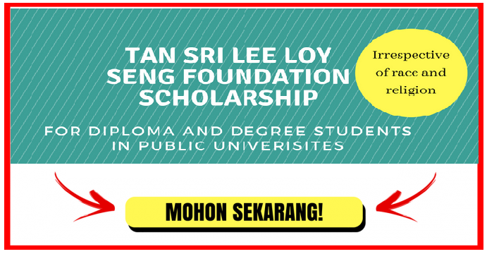 Apply Tan Sri Lee Loy Seng Foundation Scholarship for Malaysian students now.