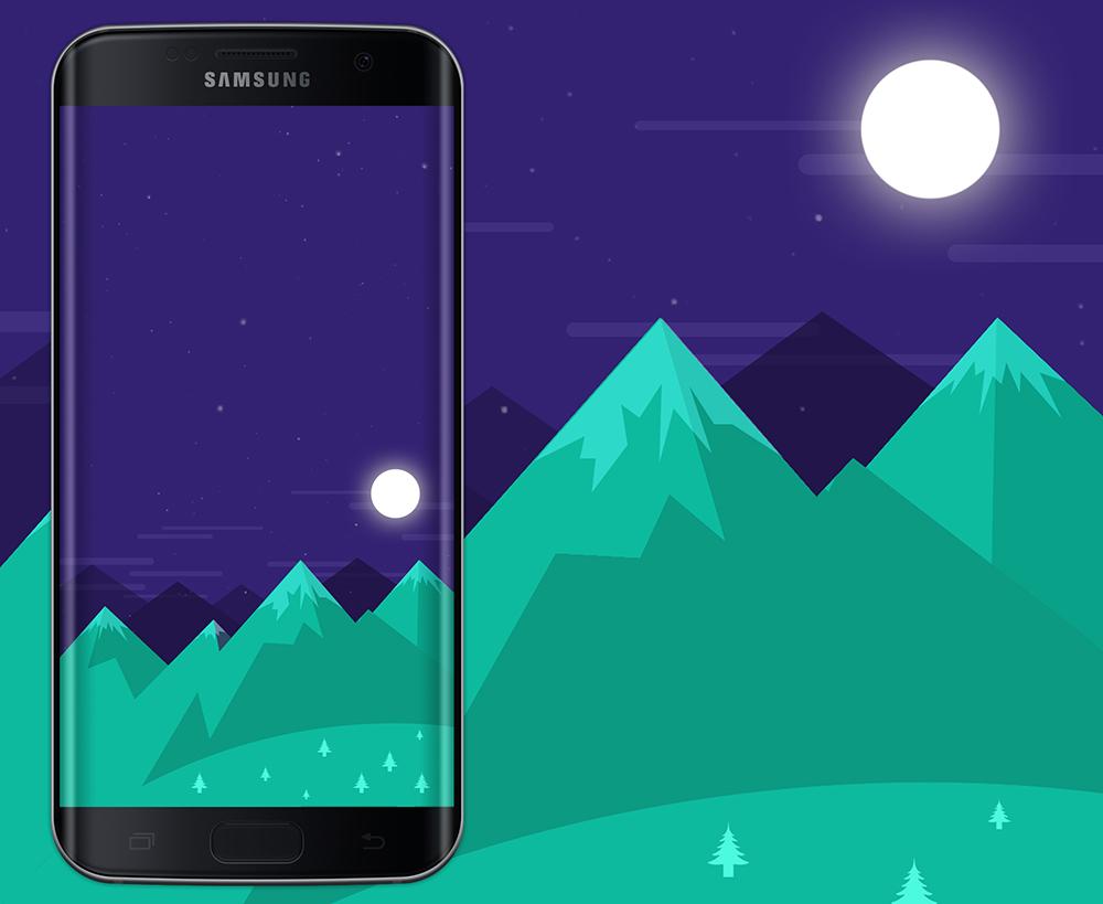 Free Wallpaper Phone: Moom Wallpaper Galaxy S7 Edge