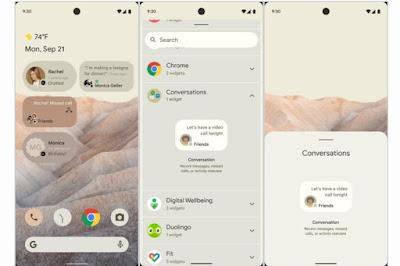 bocoran tampilan Android 12