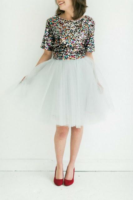 tulle skirt blanca