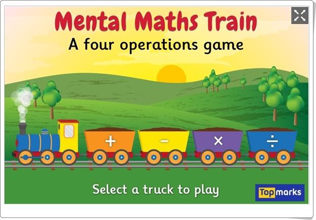 MENTAL MATHS TRAIN (Juego de Cálculo Mental de Primaria)