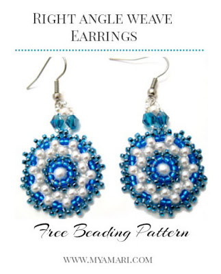 Free right angle weave earrings beading pattern