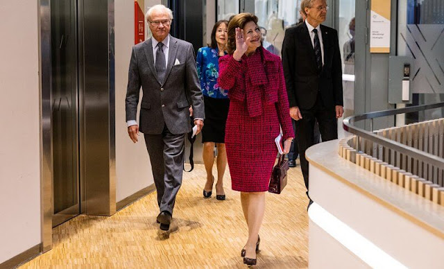 Chanel Fall 2016 ready to wear collection. Queen Silvia wore a tweed dress set by Chanel