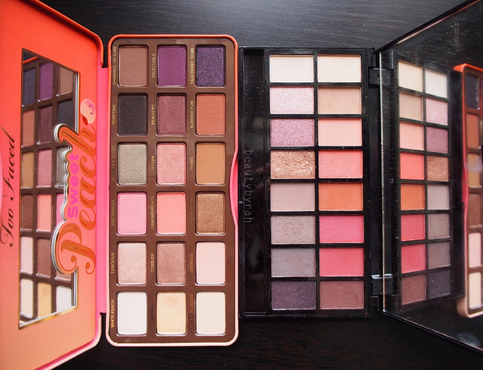 Too Faced Sweet Peach palette dupe Makeup Revolution Neutrals Vs Neutrals Palette