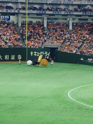 mascot race at Tokyo Dome