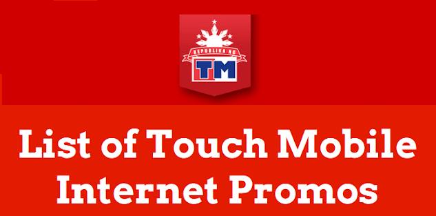List of TM Internet Promos