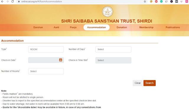 shirdi bhakta niwas accommodation online booking