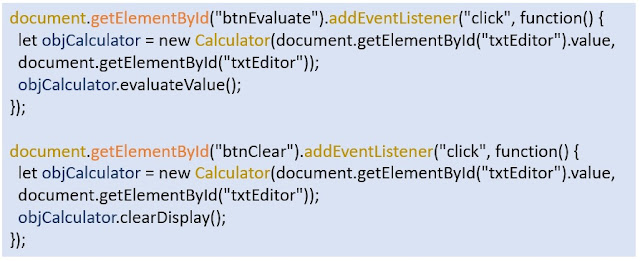 Evaluate and Clear Button Click Event