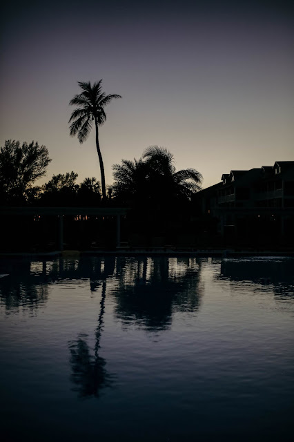 The pool at Casa Ybel at sunset