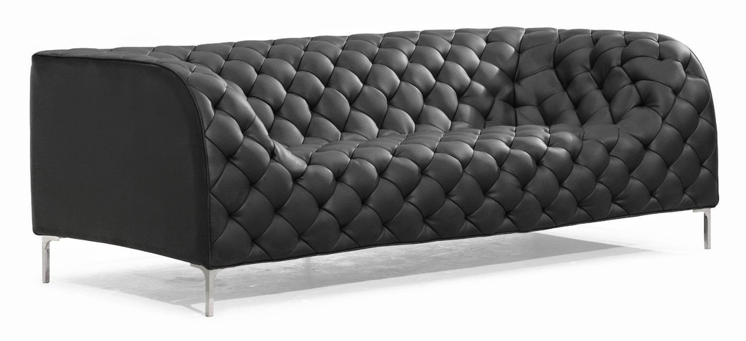 Amazing Black Modern Tufted Club Sofas