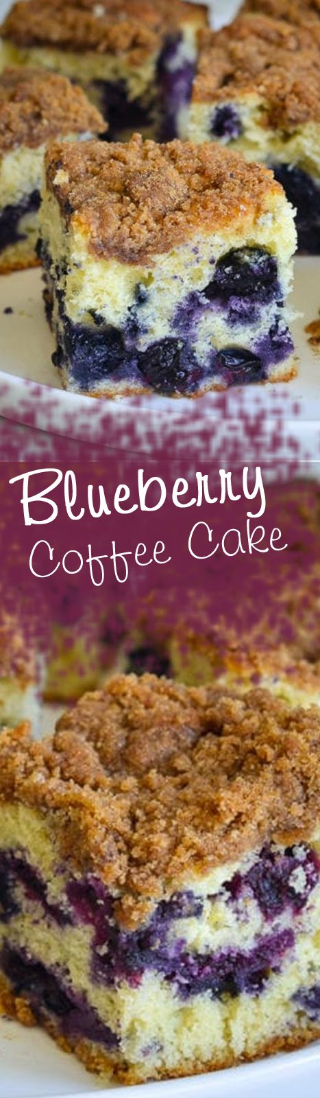 Blueberry Coffee Cake #recipes #coffee #cake #blueberry #coffeecakes #eating #food