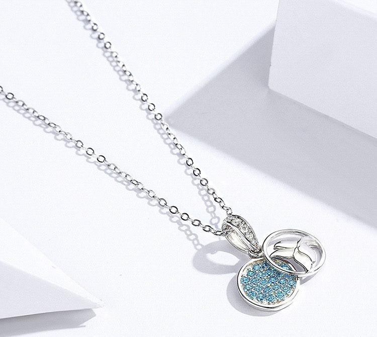 氣質美人魚波浪 925純銀項鍊