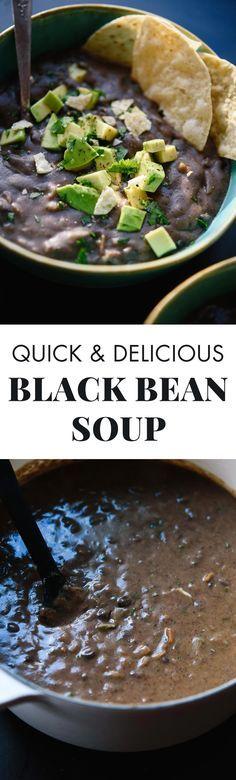 Spicy Black Bean Soup #recipe #soup #healthyrecipes