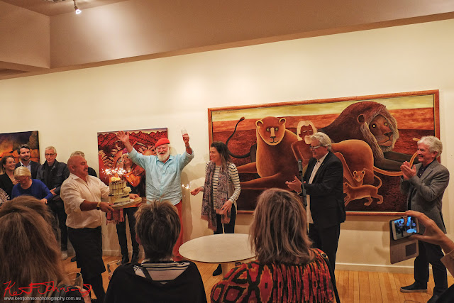 Bob Marchant show and 80th Birthdays at Australian Galleries. Photographed by Kent Johnson for Street Fashion Sydney.