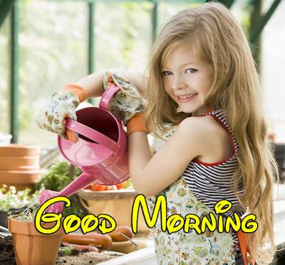 little girl good morning baby girl