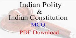 Indian Constitution MCQ PDF