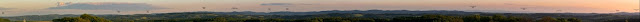 Panorama w kierunku południowym ze wzgórza 404m