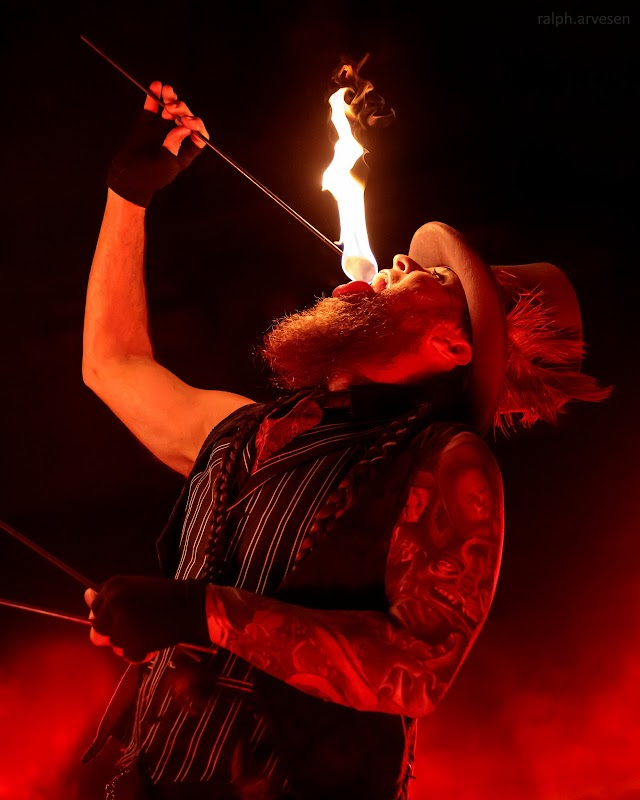 Hellzapoppin Circus Sideshow Review performing at the Come and Take It in Austin, Texas
