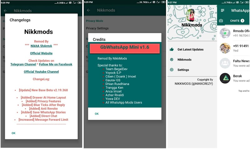GbWhatsApp Mini 1.6 Latest Version APK Mod By NikkMods