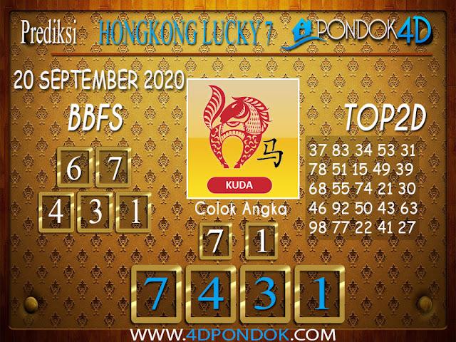 Prediksi Togel HONGKONG LUCKY 7 PONDOK4D 20 SEPTEMBER 2020
