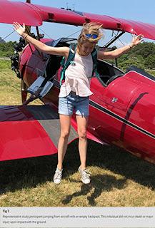 étude randomisé saut parachute