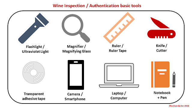 Wine Inspection - Authentication basic tools by ©LeDomduVin 2018