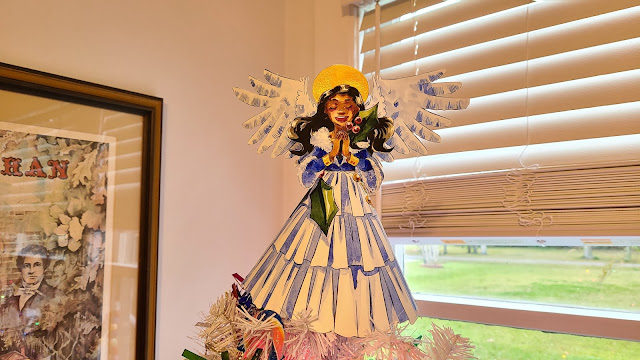 Angel tree topper papercraft