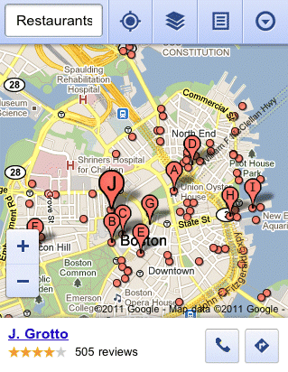 More Features in Google Maps for Mobile Browsers