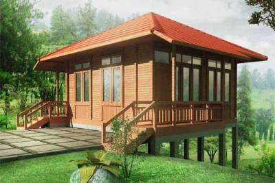 desain rumah kayu cantik