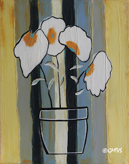 Painting Flowers on wood