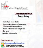 Loker Surabaya di CV. Mitra Megah Mandiri Januari 2021