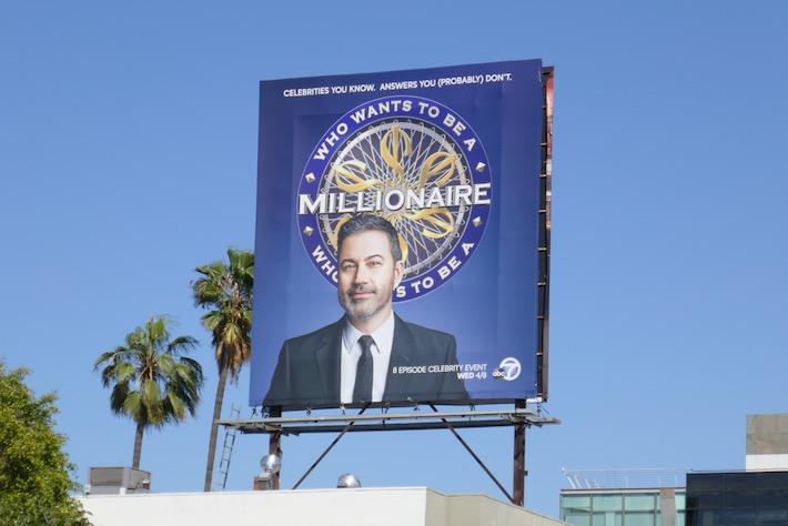 Jimmy Kimmel Who Wants to be a Millionaire billboard