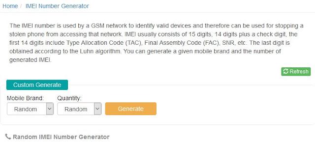 IMEI Generator Android Online Gratis