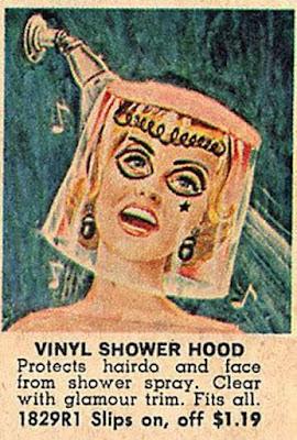 Vinyl shower hood