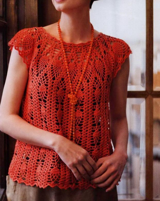 Crochet Vest For Women - Pineapple Crochet Lace
