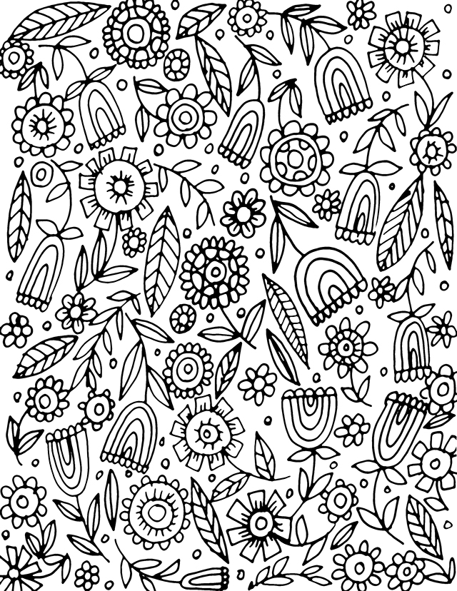 fall flower coloring pages - photo#31