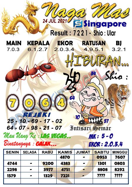 Syair Naga Mas SGP Sabtu 24 Juli 2021