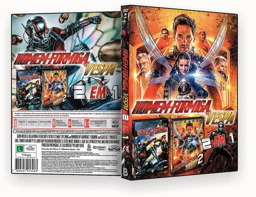 CAPA DVD – Homem Formiga & Vespa 2 Em 1 – ISO