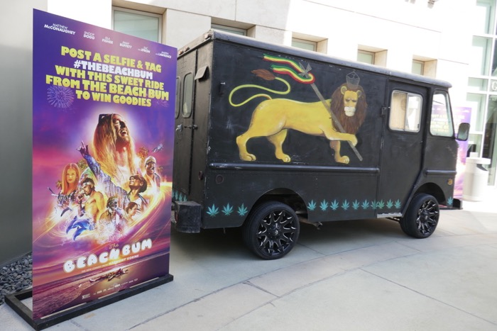 Beach Bum movie truck