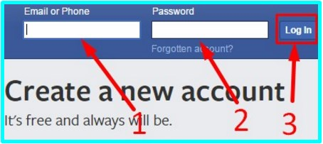 Facebook Log In