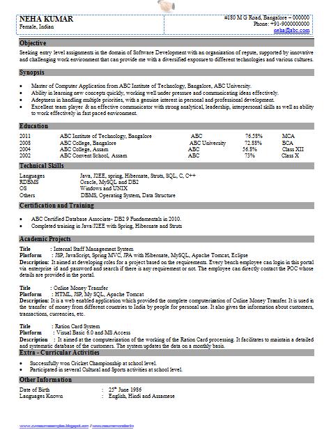 resume java developer java developer resume samples java resume ...