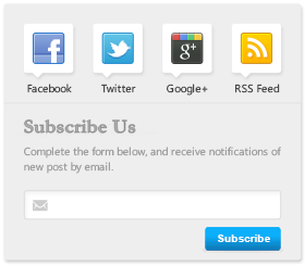 Email Subscription Form With Social Buttons